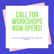 Call for Workshops now opens